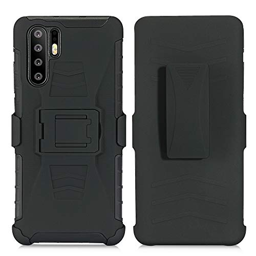 - AIIYG DS P30 Pro Case, Heavy Duty Full Body Kickstand Belt Clip Holster Hybrid Shockproof Protective 3 in 1 Case Cover Military Outdoor Sport for Huawei P30 Pro(Black, P30 Pro)