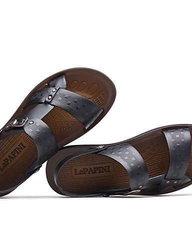 ShangYi Herren Sandaletten Herrenschuhe - Outddor / Lässig / Sportlich - Sandalen - Leder - Schwarz / Braun Brown