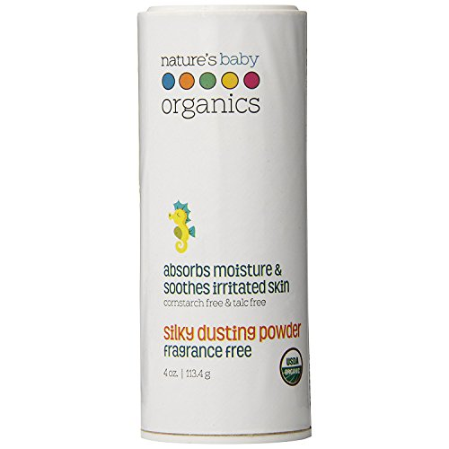 Natures Baby Organics Fragrance - Nature's Baby Silky Dusting Powder Fragrance Free, 4 Oz