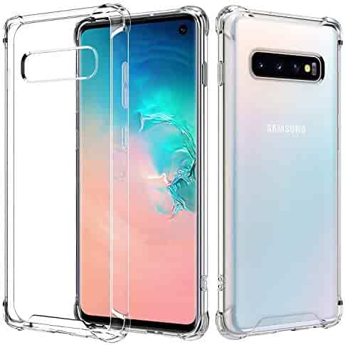 RKINC Case for Samsung Galaxy S10, Reinforced Corners Soft Cushion TPU Bumper + Hybrid Crystal Clear Rugged Hard Transparent Cover for Samsung Galaxy S10