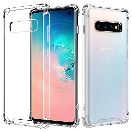 RKINC Case forSamsung Galaxy S10, Reinforced Corners Soft Cushion TPU Bumper + Hybrid Crystal Clear Rugged Hard Transparent Cover forSamsung Galaxy S10