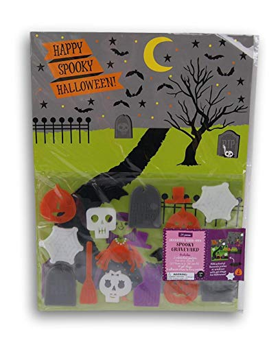 Spooky Town Halloween Graveyard Gel Cling Decorate Your Own Haunted Scene Activity