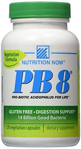 Now PB 8 Pro-Biotic Acidophilus Capsules, Vegetarian, 120-Count Bottles 60 - Probiotic Formula Acidophilus