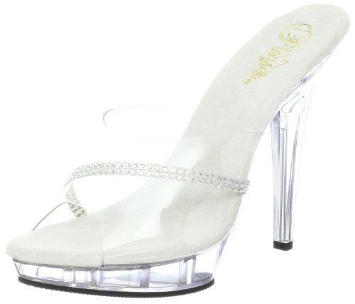 Pleaser Lip-101r, Mules Pour Femme - - Transparent, 36 EU