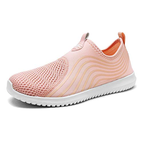 Dream Pools - DREAM PAIRS Women's C0206_W Shell Pink Fashion Athletic Water Shoes Sneakers Size 9.5 M US