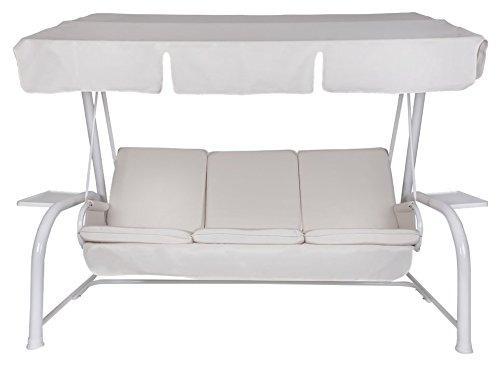 Amazon.de: Neffy Shop Set Kissen Mit Dach Ersatz Für Hollywoodschaukel 4  Sitzer, Beige, 175 X 55 X 8 Cm, 19602