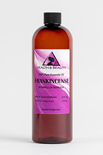 Frankincense / Olibanum Essential Oil Organic Aromatherapy Therapeutic Grade 100% Pure Natural 16 oz by H&B Oils Center Co.