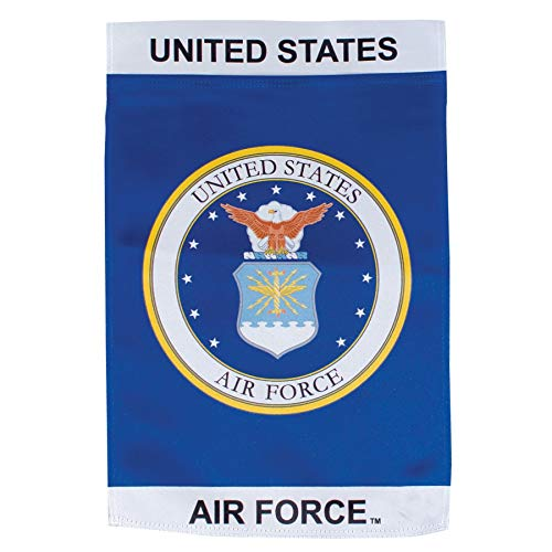 - In the Breeze U.S. Air Force Emblem Lustre Garden Flag - Double Sided Military Service Flag