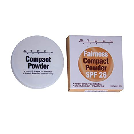 buy steel paris fairness compact powder spf 26 uv protection shine