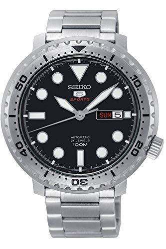 Seiko 5 Sports 100m Automatic 'Bottle Cap' Steel Watch ()