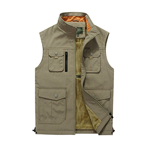 Outdoor Men's Yellow pocket Vest Jacket Autumn Multi Winter tqA6PrUq