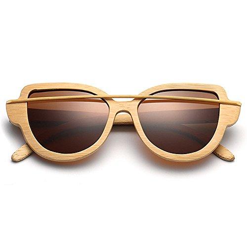 Ojos gafas de de Unisex protección bambú gato mujeres sol gafas Lente de sol sol simple de Marco las gafas UV hombres de de de colorida Marrón de Gafa polarizadas para Retro conducción de madera de gafas sol nxHapwfR