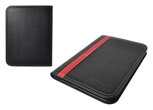 Portfolio - 3 Piece Bundle, Best Buy Gift, New Black/Red, Executive - Leather Binder Case, Tools, For The Interview, The Job, Financial Management, Office, Documents, Best - Travel Document Organizer. Photo #8