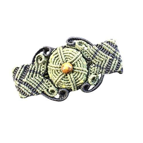 - Mexican Macrame Peyote Flower Bracelet