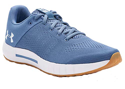 Under Armour Womens Micro G Pursuit Running Shoe Thermal Blue/Gum Rubber/White 10 M US
