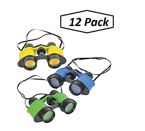 12 Toy Binoculars With Neck String 3.5