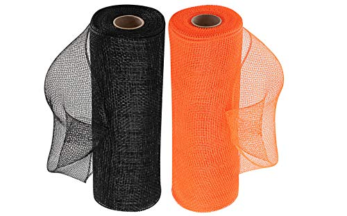 Wreath Maker Black & Orange Deco Mesh - 10