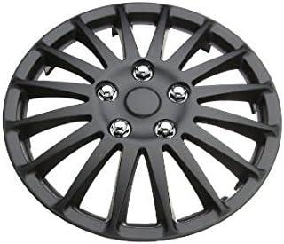 Renault Twingo 15 Stylish Black Lightning Wheel Cover Hub Caps x4
