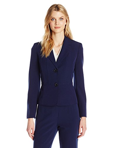 Kasper Women's Petite-Size Two Button Jacket, Indigo, 16P (Suit Jackets For Women 2 Button)