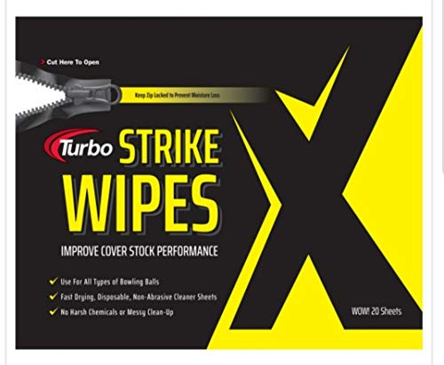 Turbo Grips Strike Wipes Ball Cleaner- Bag Of 20 (Bowling Ball Cleaning Wipes)