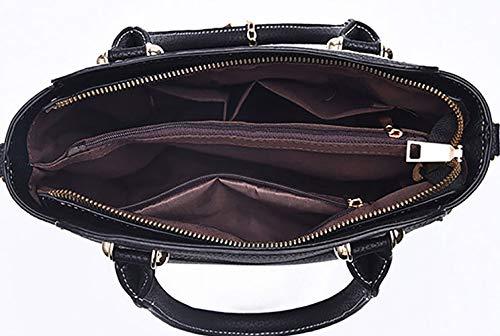 Mujer y bandolera de Fekete Bolsos clutches bolsos mano Shoppers de hombro DEERWORD y Carteras 6wpxaqRR
