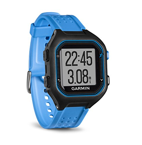 Garmin Forerunner 25 GPS Watch and Activity Tracker Black/Blue 010-01353-01