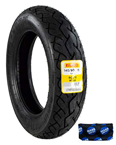 Pirelli MT 66 Route 800200 140/90-15 M/CTL 70H Rear Motorcycle Cruiser Tire Includes Neck Gaiter