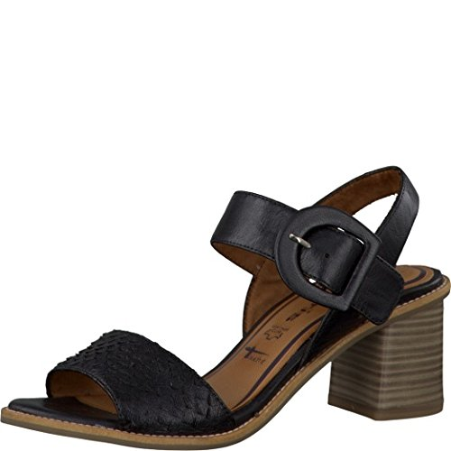 TAMARIS Schaftsandalette Leder Damen Schuhe schwarz