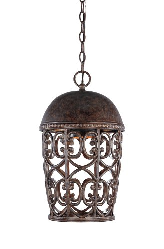 Lighting Pendant Fountain Designers Moderne - Designers Fountain 97594-BU Amherst Hanging Lantern, Burnt Umber