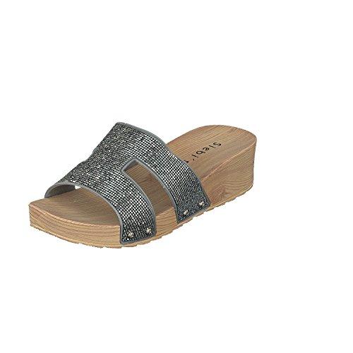 Siebi's COMO Chanclas Para La Piscina Playa Zapatillas Mujer Plata