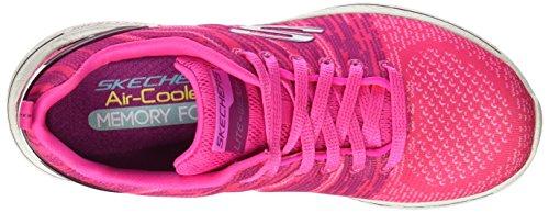 Baskets Pink Hot Burst Skechers Femme Walk Rose PwqvExAz