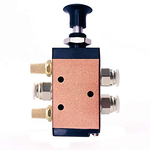 no logo WSF-Adapters 1pc Pneumatic Switch Manual Valve 4R210-08 Hand Push Pull Valve Mechanical Valve Cylinder Valve Switch Valve Pneumatic Control Size : 8