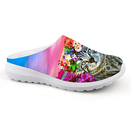 Women Women Summer Floral Printed Sandals Fashion Slipper 39 Kitty Teenagers q0Xf1xZfw