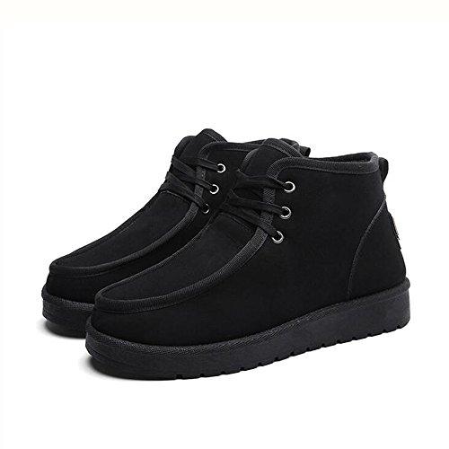 Le calzature sportive FEIFEI Scarpe da uomo tenere al caldo stivali da neve ispessimento moda casual 3 colori (taglia scelta multipla) (Colore : Grigio, dimensioni : EU42/UK8.5/CN43) Nero
