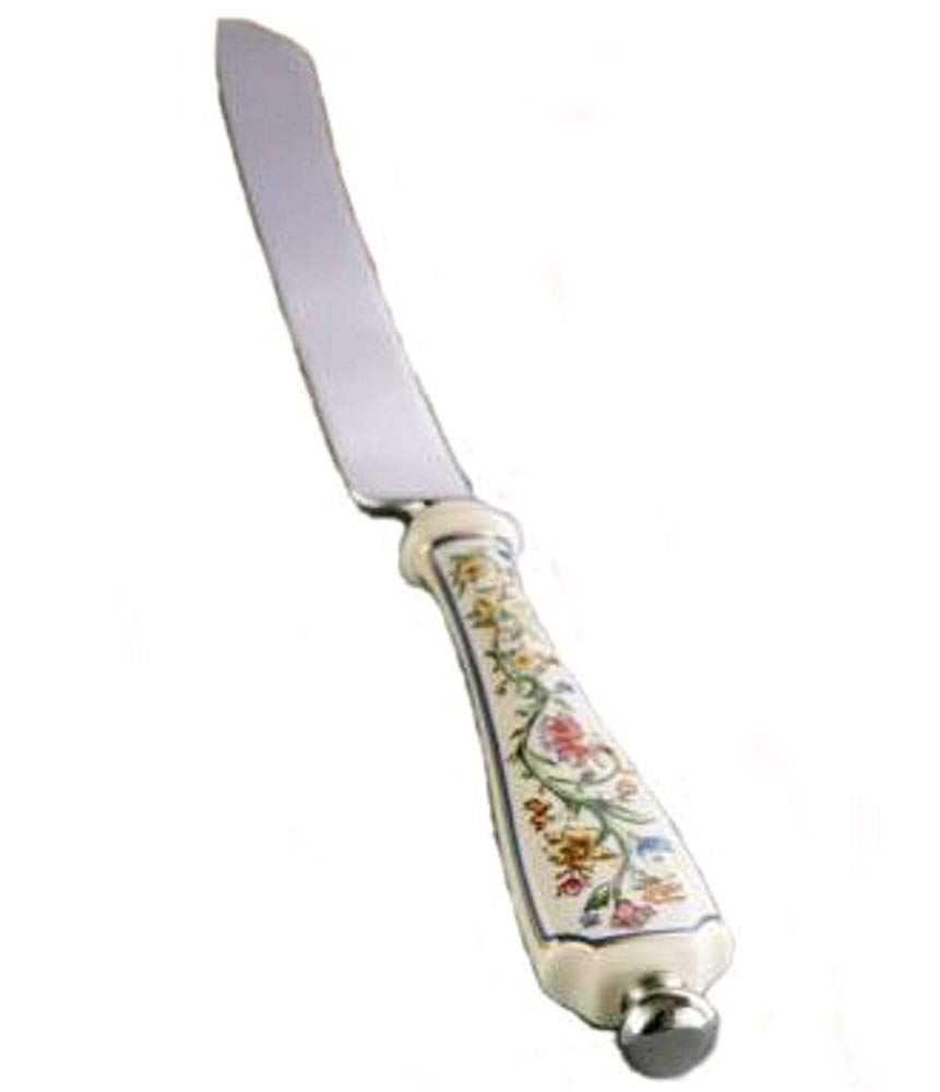 Lenox Fancy Cake / Bread / Challah Knife Floral Stainless Steel Wedding Gift Knives Shabbat Sabbath Judaica