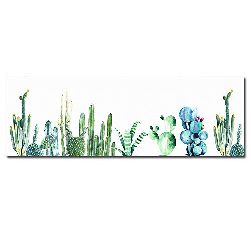 (DVQ ART Cactus Wall Art Green Plants Pictures Home Decor Natural Botanical Mural Framed Still Life Rectangle Poster for Living Room Home Decorative 16