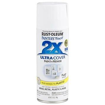 Rust-Oleum 249126 Painter's Touch Multi Purpose Spray Paint, 12-Ounce, Flat White
