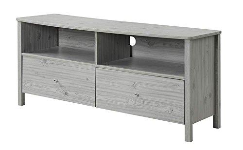 Leather Oak Media Storage (Convenience Concepts Designs2Go Westport TV Stand, Silver Oak)