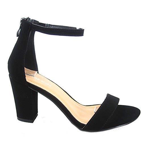 (Top Moda Women's Fashion Ankle Strap High Heel Sandal Shoes Black 6.5)