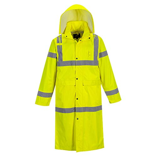 Portwest UH445YERXL Hi-Vis Classic Raincoat 48, X-Large, Yellow by Portwest (Image #3)
