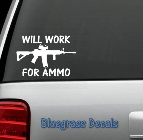 A1063-WILL-WORK-FOR-AMMO-Decal-Sticker-for-Car-Truck-SUV-Boat-Trailer-HUNTING-RELOADING-EQUIPMENT