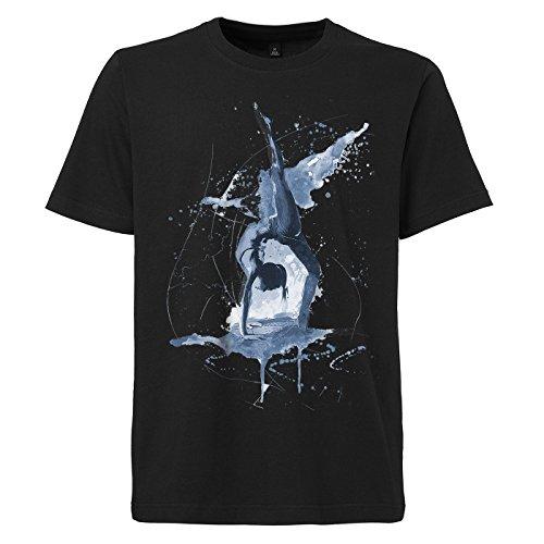Yoga_I schwarzes modernes Herren T-Shirt mit stylischen Aufdruck