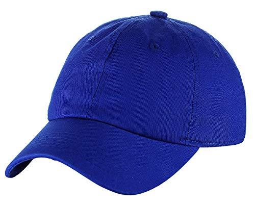 (C.C Unisex Classic Blank Low Profile Cotton Unconstructed Baseball Cap Dad Hat Royal Blue)