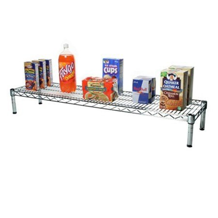 14''d x 60''w Chrome Wire Shelving with 1 Shelf by Shelving Inc