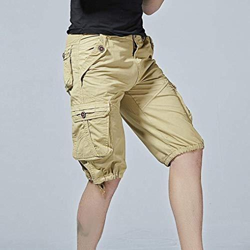 Bermuda Estivi Sportivi Casuali Cargo Khaki Pantaloni Jogging Uomo Classici Abbigliamento Pantaloncini Da Ginnastica 70XPqWSX