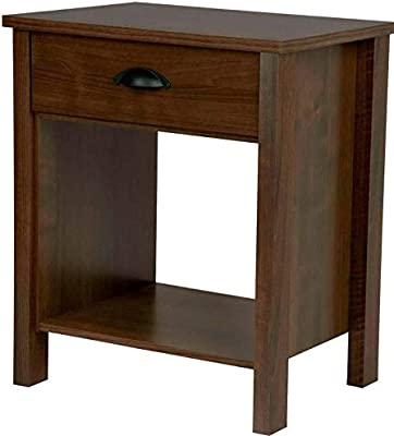 Amazon.com: Hebel 1 Drawer Night Stand Nouvelle Bedroom ...