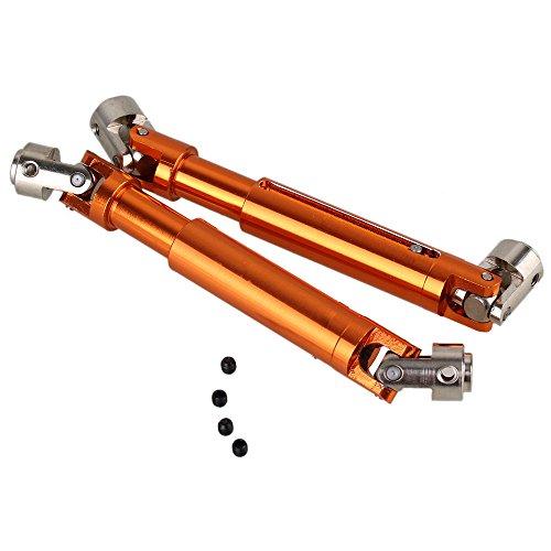 (Mxfans 2PCS 5MM Orange Aluminium 180011 Upgrade Universal DriveShaft HSP 94180 RC1:10 Bike Trial)