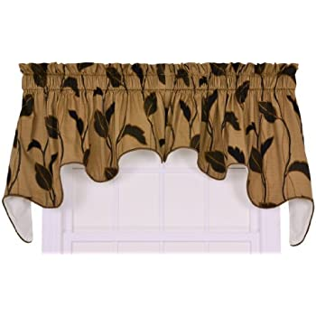 Amazon Com Ellis Curtain Riviera Large Scale Leaf And