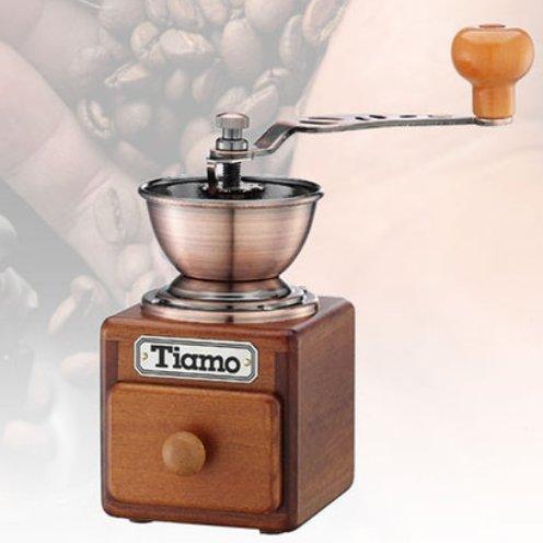 Tiamo envejecido Mini de madera estilo vintage para granos de café ...