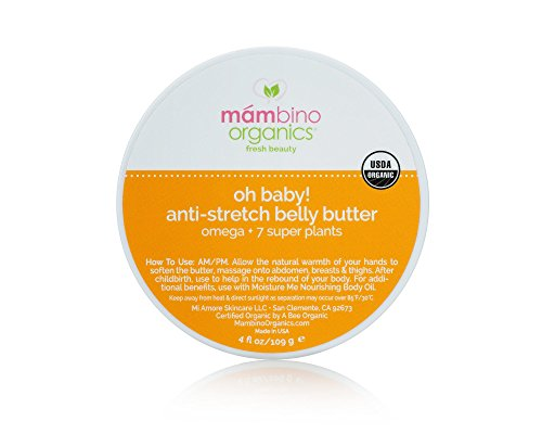Baby! Anti-Stretch Belly Butter, Omega + 7 Super Plants, 4 Fluid Ounces ()
